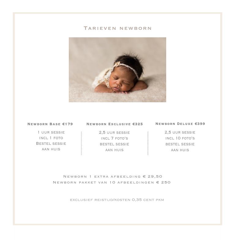 Prijzen - Evelien koote fotografie - newborn & geboortefotograaf